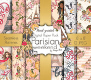 Parisian Weekend Digital Paper