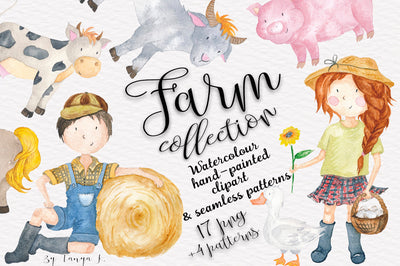Farm Watercolor Collection