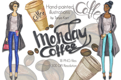 Monday Coffee Clipart