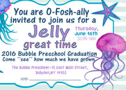 Jellyfish Party, Birthday Invite, Printable Invitation, Under The Sea Party, Nautical Invitation, Jelly Invitation, Party Invitation