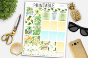 Summer Weekly Printable kit for Life Planner Erin Condren