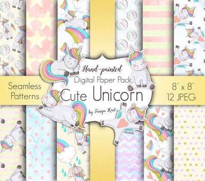 Cute Unicorns Paper Pack