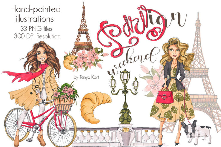 Parisian Weekend Clipart