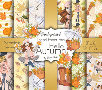Hello Autumn Digital Paper
