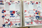 4 th Of July Printable Weekly Planner Stickers Erin Condren