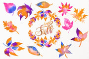 Autumn Colours Watercolor Clipart
