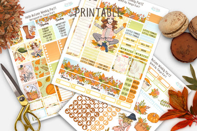 Autumn Planner Stickers, Autumn Weekly Kit, September Planner Stickers, October Stickers, Fall Planner Stickers, Erin Condren