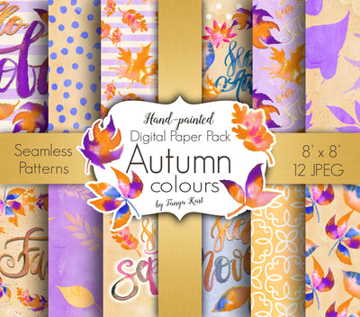 Autumn Colours Digital Paper