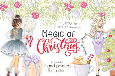 Magic Of Christmas Hand-Painted Clipart