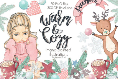 Warm and Cozy December Clipart