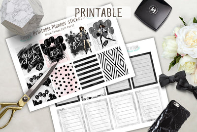 Fashion Black Friday Printable Boxes for Erin Condren