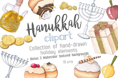 Hand-Painted Hanukkah Clipart