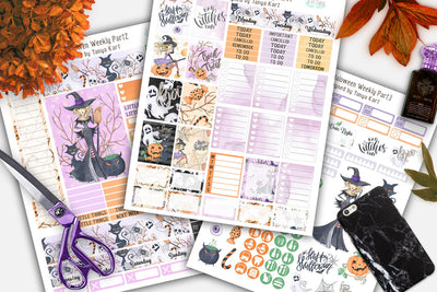 Halloween Printable Planner Stickers Weekly Erin Condren Life Planner