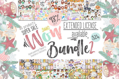 Wow Bundle 2 COLLECTION OF CLIPARTS & PATTERNS