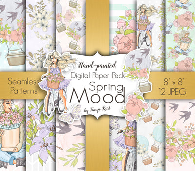 Spring Mood Digital Paper