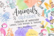 Watercolor Animal Alphabet