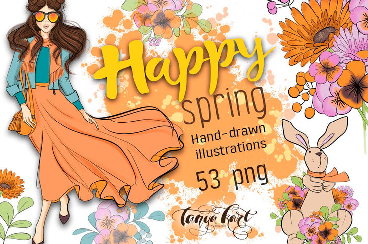 Happy Spring Clip Art