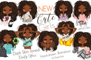 Planner African American Girls Stickers