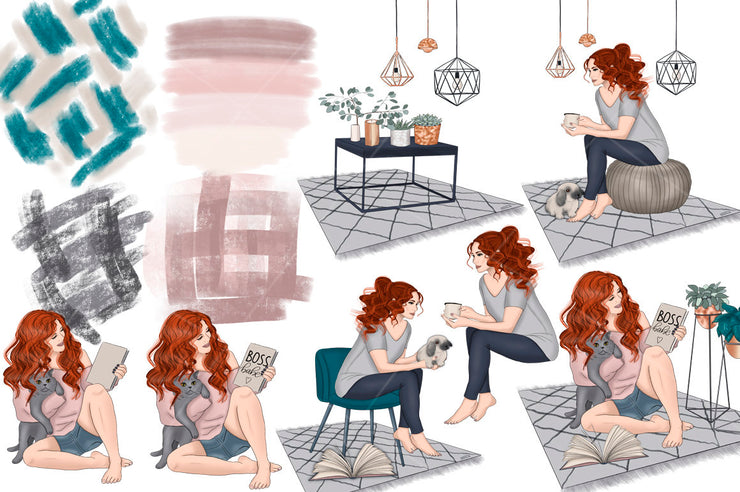 Home Hygge Home Clipart