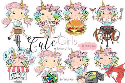 Planner Girls Unicorn Stickers