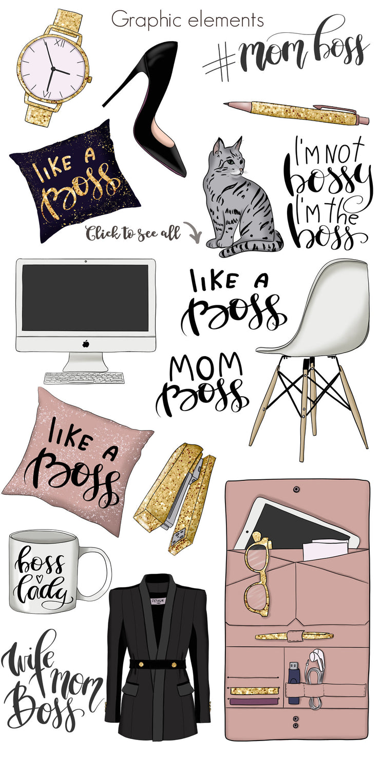 Mom Boss Clipart