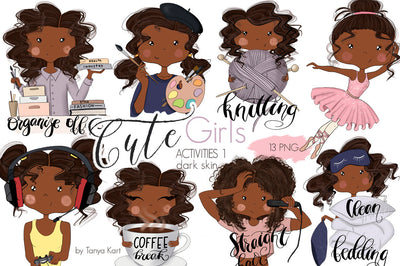 Planner Girls Icons African American