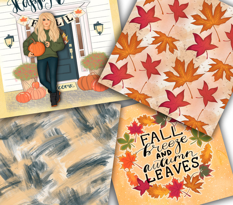 Happy Fall Autumn Patterns