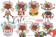 Planner Girls Unicorns Dark Skin Toned