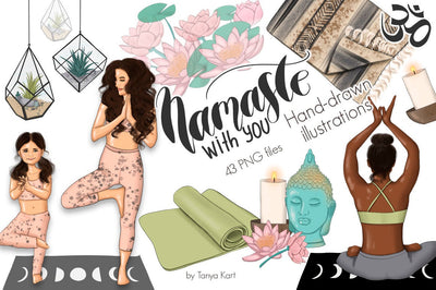Namaste With You Clip Art
