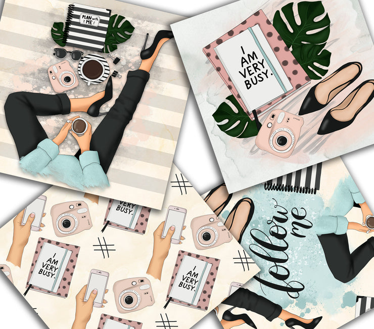 I'm A Blogger Digital Paper Pack