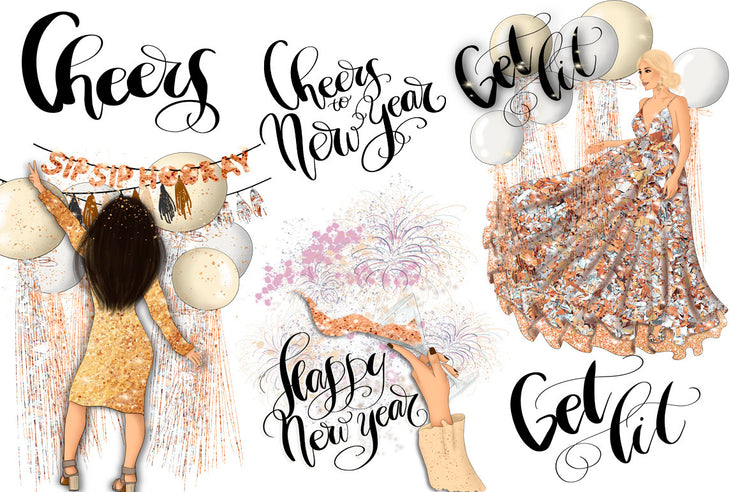 Get Lit New Year Clipart