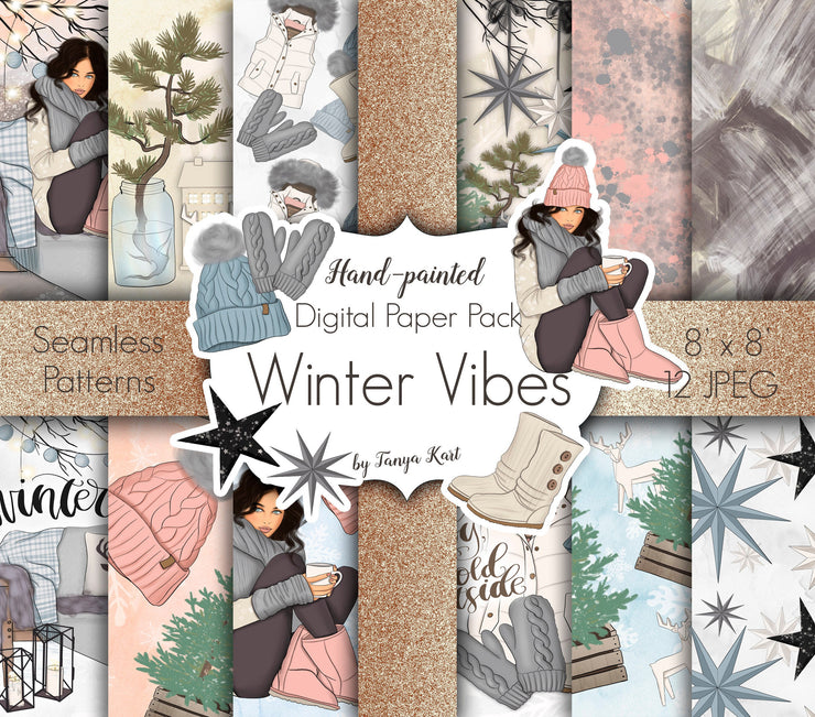 Winter Vibes Digital Paper Pack