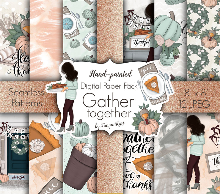 Gather Together Digital Paper