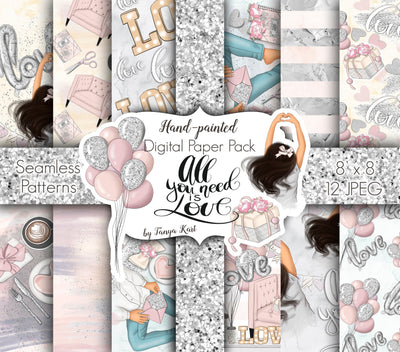All You Need Is Love Digital Papers
