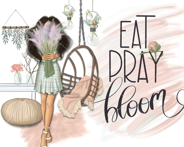 Eat Pray Bloom Clipart