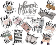 Planner Stickers Clipart