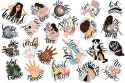 Planner Stickers Hand-Drawn Clipart