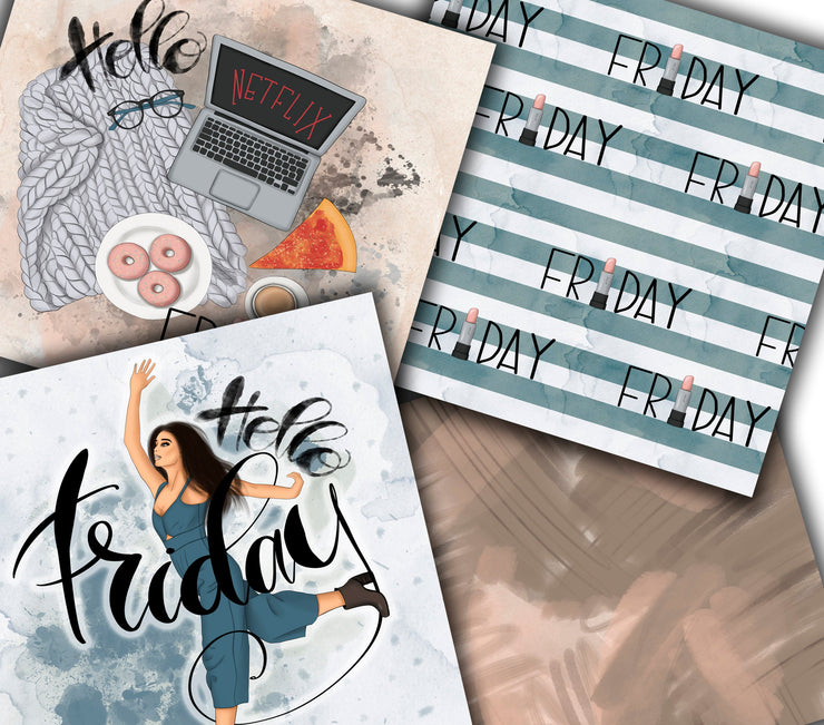 Hello Weekend Digital Papers