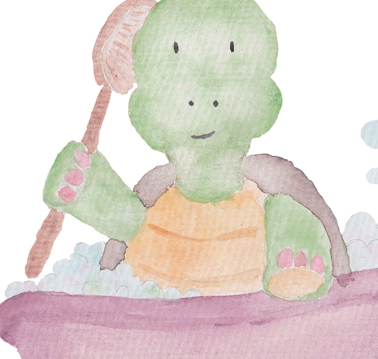 Watercolor Hand Painted Bathtub Clipart