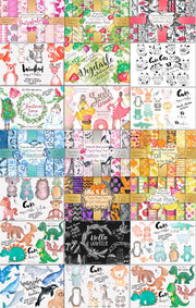 Wow Bundle Collection of Cliparts & Patterns