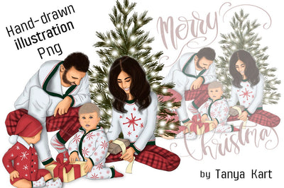 Family Christmas Clipart