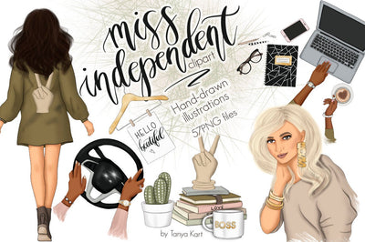 Miss Independent Clip Art