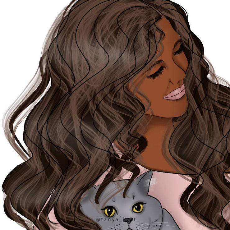 African American Fashion Girls Clipart