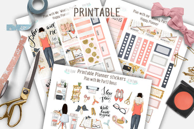Plan with Me Printable Weekly Kit