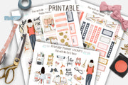Plan with me Happy Planner Printable Weekly Stickers kit