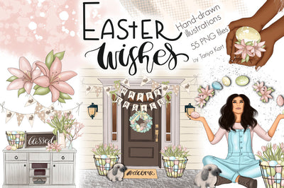 Easter Wishes Clipart