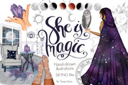 She Is Magic Clipart