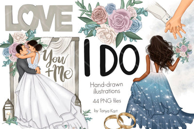 I Do Wedding Clipart