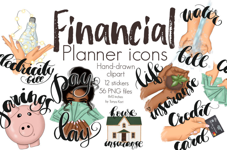 Financial Planner Icons