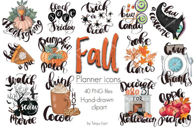 Fall Planner Icons